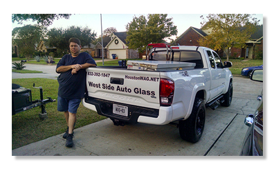 West Side Auto Glass Truck and Owner
