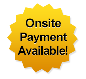 Onsite Payment Available